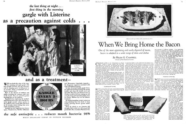 Article Preview: When We Bring Home the Bacon, March 1st 1931 1931 | Maclean's