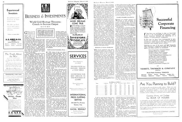 Article Preview: BUSINESS & INVESTMENTS, March 1st 1931 1931 | Maclean's