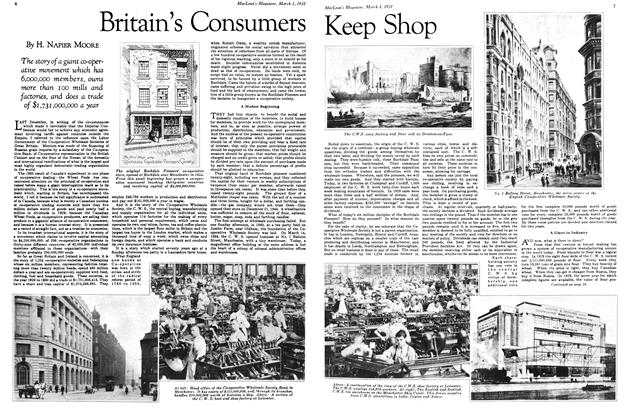 Article Preview: Britain's Consumers Keep Shop, March 1st 1931 1931 | Maclean's