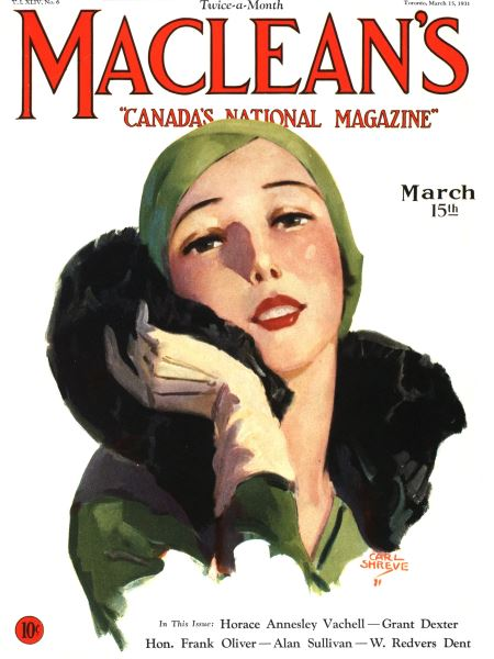 Issue: - March 1931   Maclean's