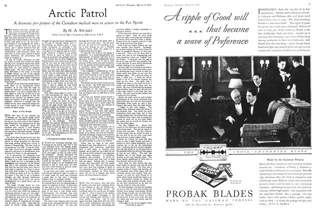 Article Preview: Arctic Patrol, March 1931 | Maclean's