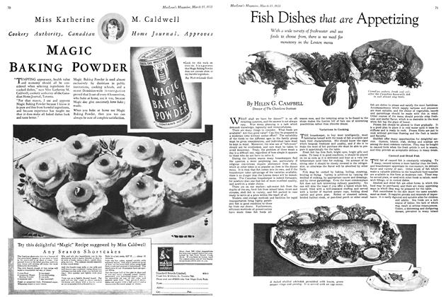 Article Preview: Fish Dishes that are Appetizing, March 1931 | Maclean's