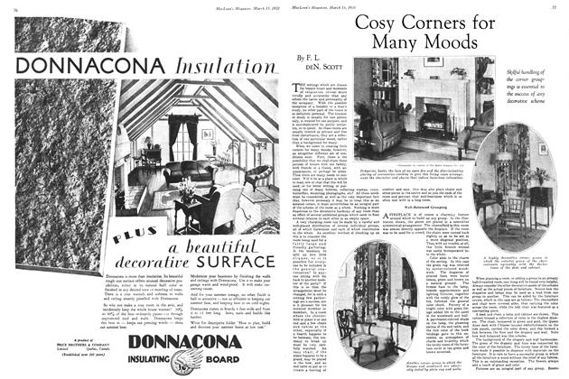 Article Preview: Cosy Corners for Many Moods, March 1931   Maclean's