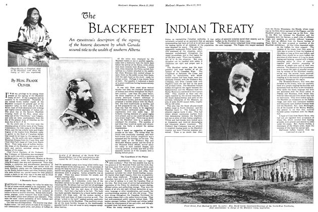 Article Preview: The BLACKFEET INDIAN TREATY, March 1931 | Maclean's