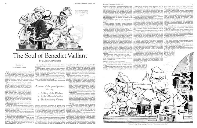 Article Preview: The Soul of Benedict Vaillant, April 1931 | Maclean's