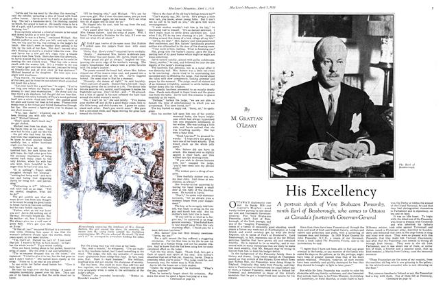 Article Preview: His Excellency, April 1931 | Maclean's