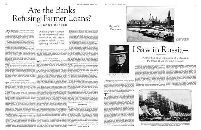 Article Preview: Are the Banks Refusing Farmer Loans?, April 1931 | Maclean's