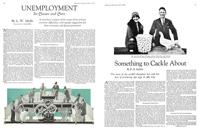 Article Preview: UNEMPLOYMENT Its Causes and Cure, April 1931 | Maclean's