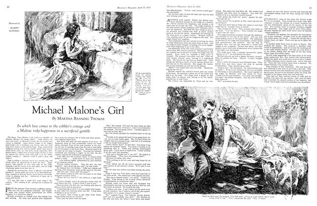 Article Preview: Michael Malone's Girl, April 15th 1931 1931 | Maclean's