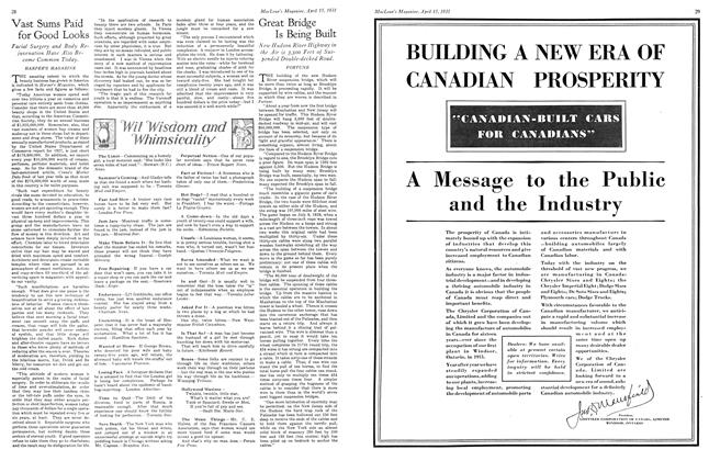 Article Preview: Great Bridge Is Being Built, April 15th 1931 1931 | Maclean's