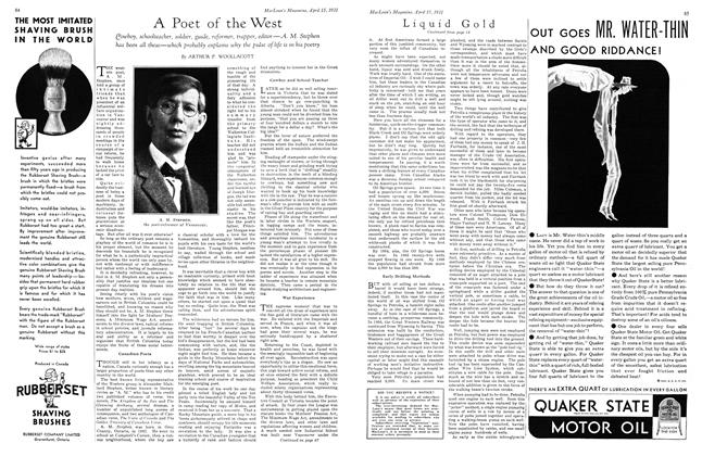 Article Preview: A Poet of the West, April 15th 1931 1931   Maclean's