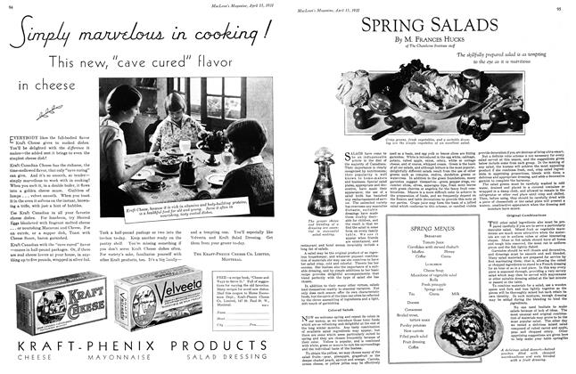 Article Preview: SPRING SALADS, April 15th 1931 1931 | Maclean's