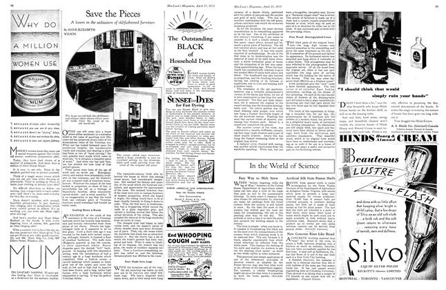 Article Preview: Save the Pieces, April 15th 1931 1931 | Maclean's