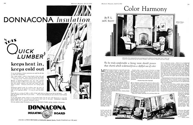 Article Preview: Color Harmony, April 15th 1931 1931 | Maclean's