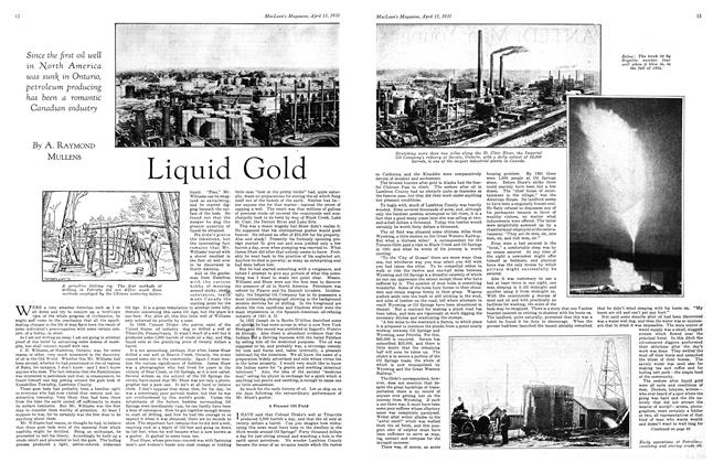 Article Preview: Liquid Gold, April 15th 1931 1931 | Maclean's