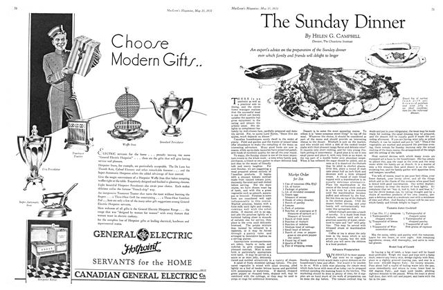 Article Preview: The Sunday Dinner, May 15th 1931 1931 | Maclean's