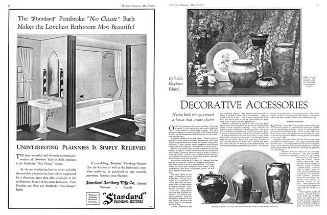Article Preview: DECORATIVE ACCESSORIES, May 15th 1931 1931 | Maclean's
