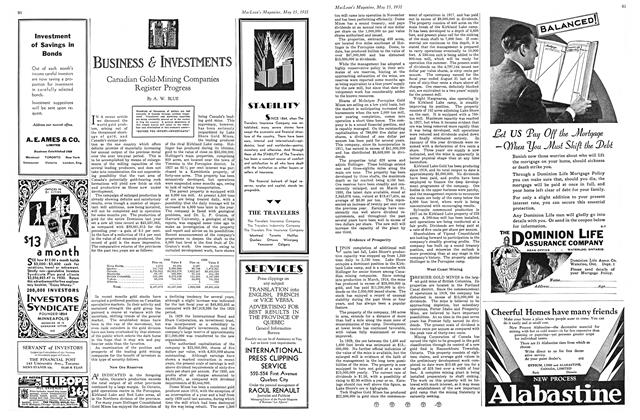 Article Preview: BUSINESS & INVESTMENTS, May 15th 1931 1931   Maclean's