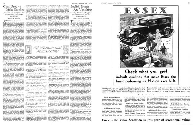 Article Preview: English Estates Are Vanishing, June 1931   Maclean's