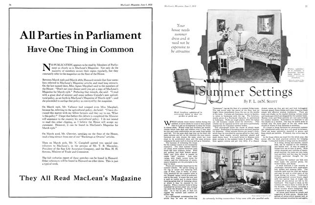 Article Preview: Summer Settings, June 1931   Maclean's