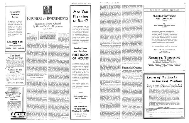 Article Preview: BUSINESS & INVESTMENTS, June 1931 | Maclean's