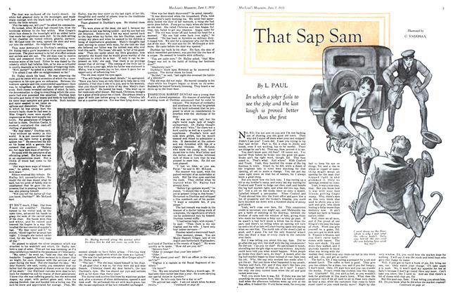 Article Preview: That Sap Sam, June 1931   Maclean's