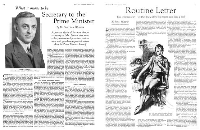 Article Preview: What it means to be Secretary to the Prime Minister, June 1931 | Maclean's