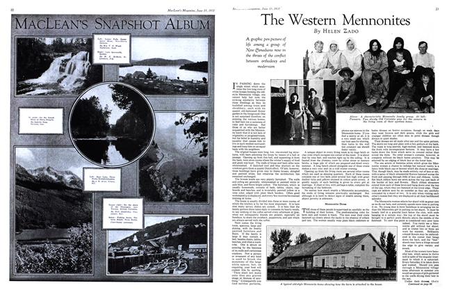 Article Preview: The Western Mennonites, June 1931 | Maclean's