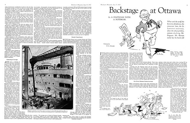 Article Preview: Backstage at Ottawa, June 1931 | Maclean's