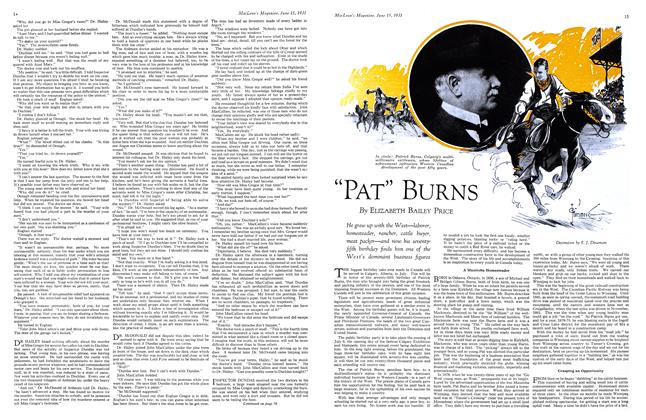 "Article Preview: ""PAT"" BURNS, June 1931 