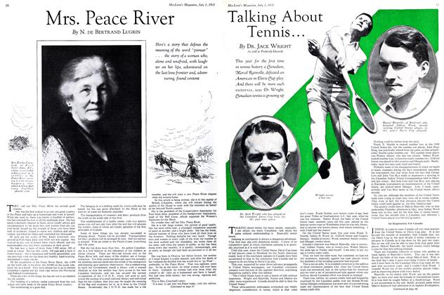 Article Preview: Mrs. Peace River, July 1931 | Maclean's