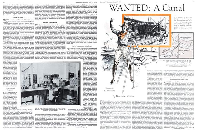 Article Preview: WANTED: A Canal, July 1931 | Maclean's