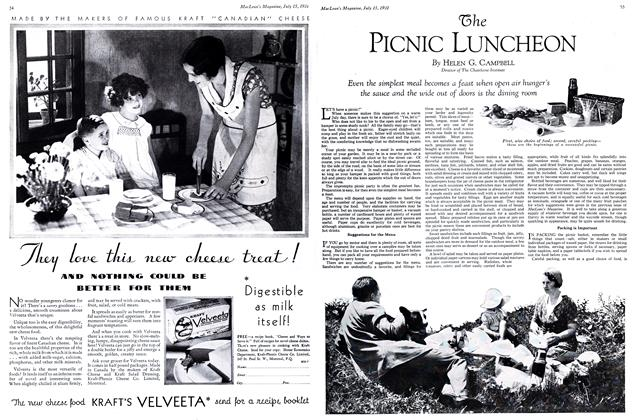 Article Preview: The PICNIC LUNCHEON, July 1931 | Maclean's