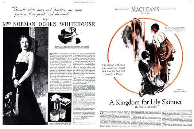 Article Preview: A Kingdom for Lily Skinner, July 1931 | Maclean's