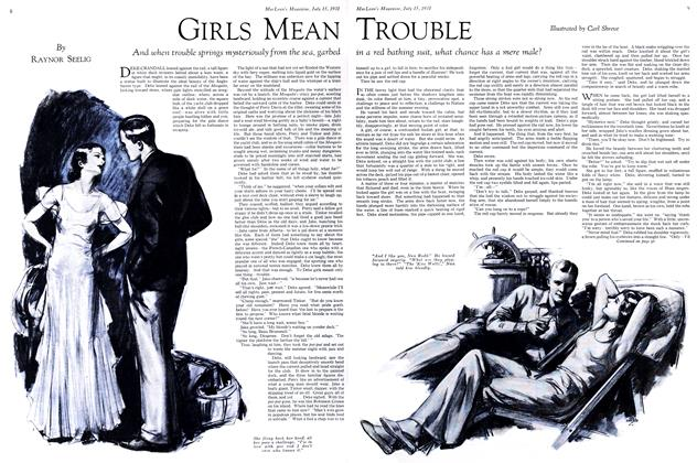Article Preview: GIRLS MEAN TROUBLE, July 1931 | Maclean's