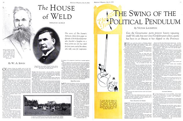 Article Preview: THE SWING OF THE POLITICAL PENDULUM, July 1931 | Maclean's