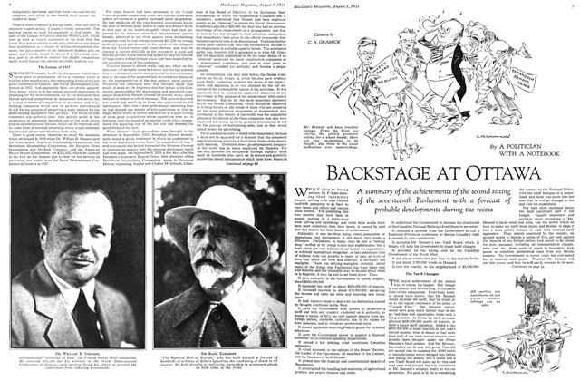 Article Preview: BACKSTAGE AT OTTAWA, August 1931   Maclean's