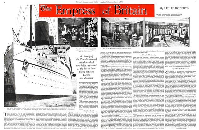 Article Preview: The Empress of Britain, August 1931   Maclean's