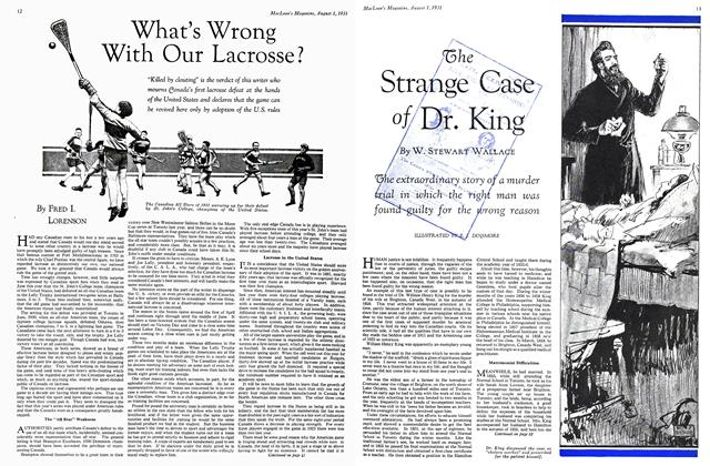 Article Preview: The Strange Case of Dr. King, August 1931 | Maclean's