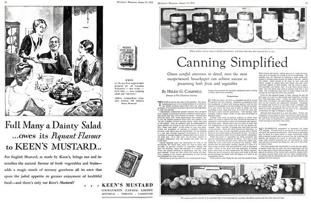 Article Preview: Canning Simplified, August 1931 | Maclean's