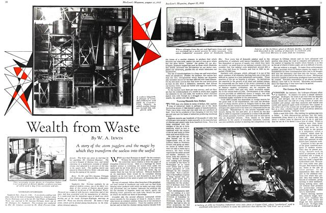 Article Preview: Wealth from Waste, August 1931 | Maclean's