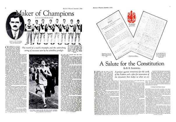 Article Preview: Maker of Champions, September 1st 1931 1931 | Maclean's