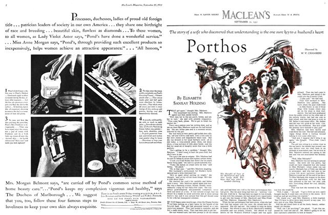 Article Preview: Porthos, September 1931 | Maclean's