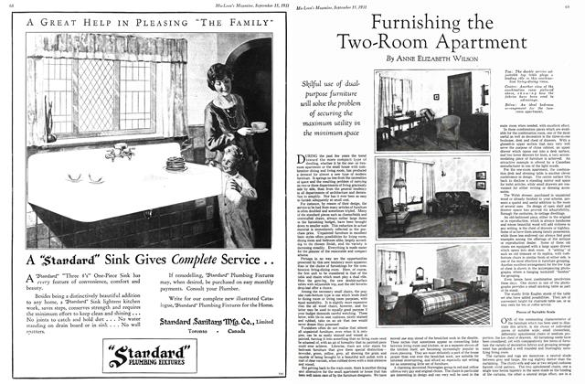 Article Preview: Furnishing the Two-Room Apartment, September 1931 | Maclean's