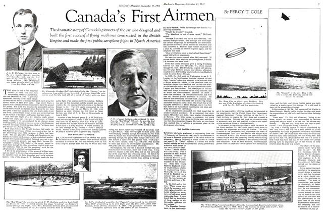 Article Preview: Canada's First Airmen, September 1931 | Maclean's