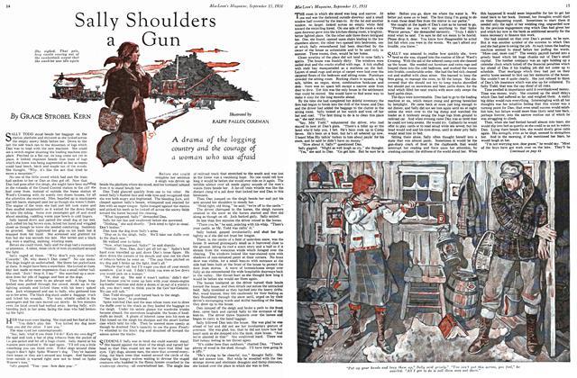 Article Preview: Sally Shoulders a Gun, September 1931 | Maclean's