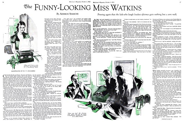 Article Preview: The FUNNY-LOOKING MISS WATKINS, October 1931 | Maclean's
