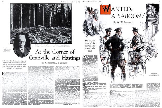 Article Preview: WANTED: A BABOON!, October 1931 | Maclean's