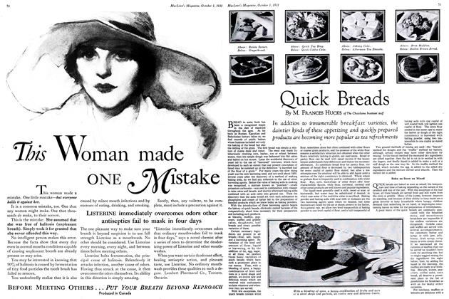 Article Preview: Quick Breads, October 1931 | Maclean's