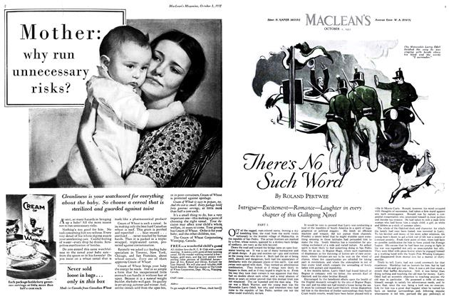 Article Preview: There's No Such Word, October 1931 | Maclean's